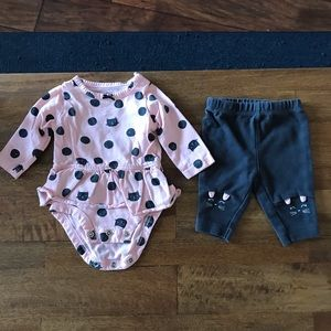 Newborn Pink and Grey Cat Set